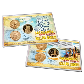 2001 Sacagawea Gold Dollar 3pc Lens Set - PDS