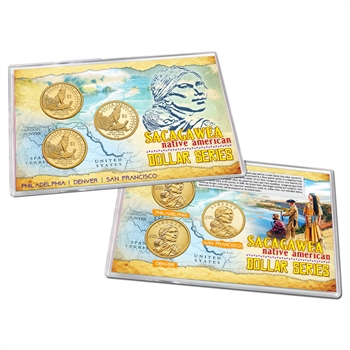 2013 Native American  Dollar 3 pc Lens Set - PDS