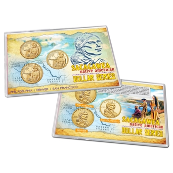2014 Native American  Dollar 3 pc Lens Set - PDS
