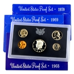 First Three San Francisco Mint Proof Sets (68-70)