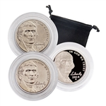 2014 Jefferson Nickel - Philadelphia, Denver & San Francisco 3pc Set