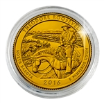 2016 Theodore Roosevelt National Park - Philadelphia - Gold Plated in Capsule