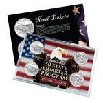 North Dakota Series 1 & 2 - Four Piece Quarter Set - Uncirculated