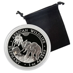 2017 Somalian Silver Elephant Uncirculated