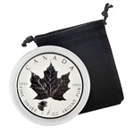 2017 Canadian Maple Leaf with Cougar Privy- 1 oz. Silver - Reverse Proof
