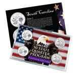 South Carolina Series 1 & 2 - Four Piece Quarter Set - Platinum