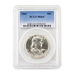1961 Franklin Half Dollar - Philadelphia - PCGS 64