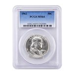 1962 Franklin Half Dollar - Philadelphia - PCGS 64