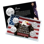 Iowa Series 1 & 2 - Four Piece Quarter Set - Uncirculated