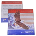2008 Bald Eagle Silver Dollar and Medal Folio Set - Uncirculated