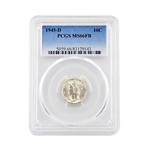 1945 Mercury Dime - Denver - Full Bands - PCGS MS66