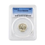 1943 Mercury Dime - Denver - Full Bands - PCGS MS66