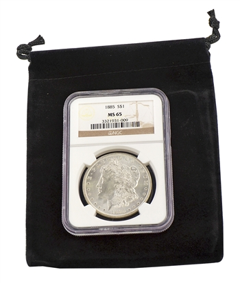 1885 Morgan Silver Dollar - Philadelphia Mint - NGC 65