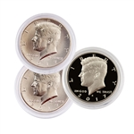 2017 Kennedy Half Dollar - Philadelphia - Denver - San Francisco - 3pc Set