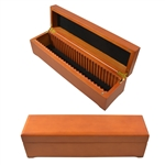 Wooden Display Box for Certified Coins - Holds 28