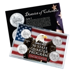 District of Columbia Series 1 & 2 - Four Piece Quarter Set - Uncirculated