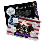 District of Columbia Series 1 & 2 - Four Piece Quarter Set - Platinum