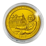 2017 Frederick Douglass National Historic Site - Philadelphia - Gold Plated in Capsule