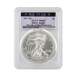 2017 Silver Eagle - San Francisco - Premier - PCGS MS69
