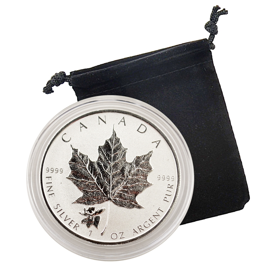 2017 Canadian Maple Leaf With Moose Privy 1 Oz Silver