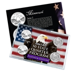 Missouri Series 1 & 2 - Four Piece Quarter Set - Platinum