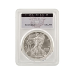 2017 Silver Eagle - Burnished - First Edition - PCGS Premier 70