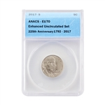 2017 Jefferson Nickel - Enhanced Uncirculated - ANACS 70