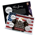 New Jersey Series 1 & 2 - Four Piece Quarter Set - Uncirculated