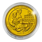 2017 Ellis Island National Monument - Denver - Gold Plated in Capsule