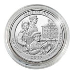 2017 Ellis Island National Monument - Denver - Platinum Plated in Capsule