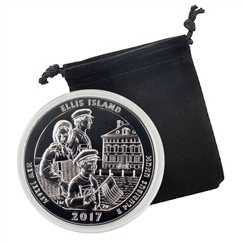 2017 Ellis Island National Monument (Statue of Liberty) - 5 oz Silver - Uncirculated