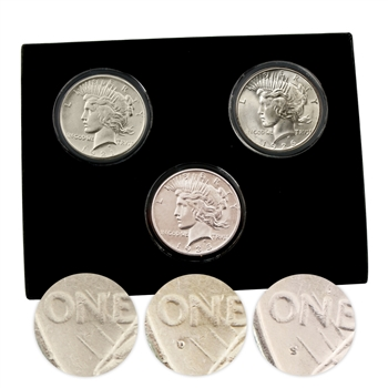 Peace Dollar Mint Mark Collection P/D/S - Uncirculated