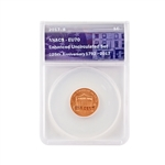 2017 Lincoln Shield Cent Enhanced Uncirculated - ANACS EU70