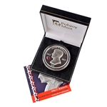 2017 BVI Kennedy - 100th Anniversary - 2 oz Silver Proof - with Purple Heart Crystal