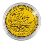 2017 George Rogers Clark National Historical Park - Philadelphia - Gold Plated in Capsule