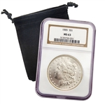 1885 Morgan Dollar - Philadelphia - Certified 63