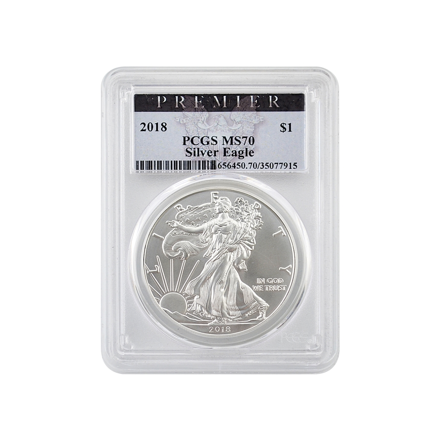 2018 Silver Eagle Ngc Ms 70 Early Release See Details