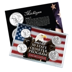 Michigan Series 1 & 2 - Four Piece Quarter Set - Uncirculated