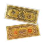 Wild West Notes - $5 & $10 - Uncirculated Gold Foil