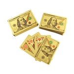 Benjamin Franklin $100 Gold Foil Card Deck