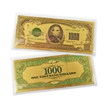 $1,000 Federal Reserve Note - Cleveland - Uncirculated Gold Foil