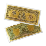 1899 $5 Indian Note -  Uncirculated Gold Foil