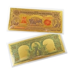 1901 $10 Buffalo Note -  Uncirculated Gold Foil