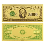 $5000 Federal Reserve Note - Madison - Uncirculated Gold Foil