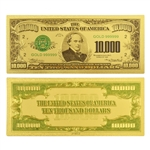 $10,000 Federal Reserve Note - Chase - Uncirculated Gold Foil