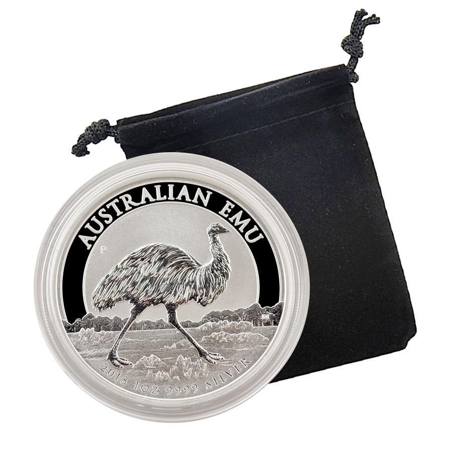 Mintage Of 30,000 Coins 2018 Australian Emu 1 oz 9999 Pure Silver