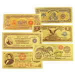 Super 6 Large Notes - Uncirculated Gold Foil