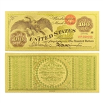 1863 $100 Eagle Note - Uncirculated Gold Foil