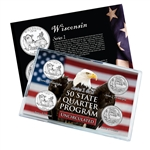 Wisconsin Series 1 & 2 - Four Piece Quarter Set - Uncirculated