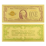 1928 $1 George Washington Note -  Uncirculated Gold Foil